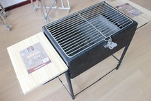 Free shipping 109cm length outdoor charcoal bbq grill, wood-burning stove outdoor oven
