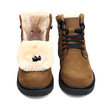 meixi winter men boots with fur genuine leather men boots winter 2017 warm snow men's shoes winter brown rubber male boots 10119