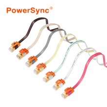 PowerSync High Speed Flat Ethernet Network Lan cable RJ45 gold-plated connector 32AWG PVC jacket metal Shielded