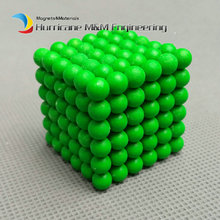 2 sets NdFeB Magnet Balls 5 mm Diameter Green Color Strong Neodymium Sphere D5 ball Permanent Rare Earth Magnets