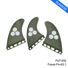 Free Shipping Future Basic K2.1 Tri set Fins Grey Honeycomb Fin M Size Surfboard Fin Quilhas