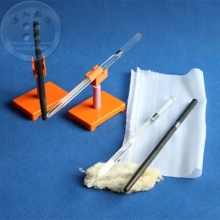 Physical electrostatic experiment two Friction the electric glass rod with two Silk glue stick fur and Rotating frame(China)