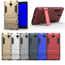 Armor Case Cover For Xiaomi Mi4 M4 PC+TPU 2 in 1 Shockproof Heavy Duty Rugged Combo Case Cover