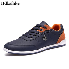 New 2017 Men Shoes Fashion Men Casual Shoes Outdoor men walking shoes Black Blue men casual shoes men leather shoes