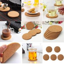 MagiDeal 5Pcs Coasters Drink Cup Mat Coffee Cork Placemats Plain Tea Wine Tablemats(China)