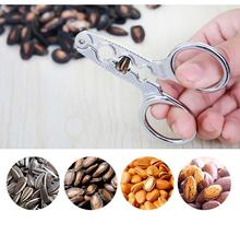 Quick Easy Stainless Steel Melon Seed Pliers Sunflower Seed Nut Pliers Sheller Scissor Nutcracker Nut Opener Home Useful Tool