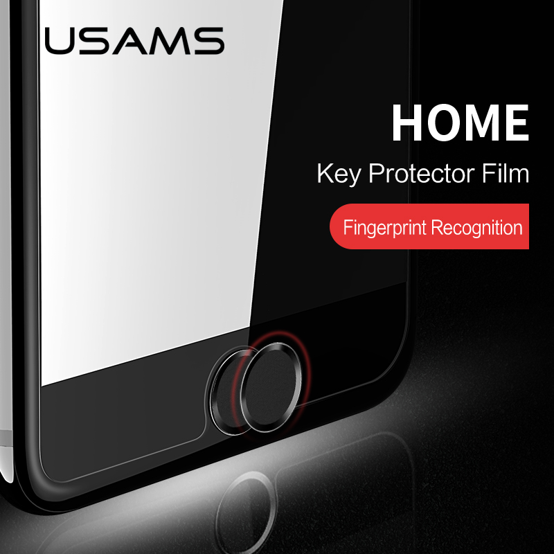 USAMS Aluminum Touch ID Home Button Sticker for iPhone SE/5S/6/6S/7 iPad Support Fingerprint Unlock Touch key Protect Stickers(China)