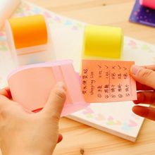 50PC cute stationery Memo Pads Belt adhesive tape holder sticky note Creative notes Self Stick Notes Writing pads