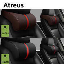 Atreus 1X Car Neck pillow Three primary colors Headrest For BMW E46 E39 E60 E90 E36 F30 F10 E34 E30 X5 E53 Lada Granta Kalina(China)