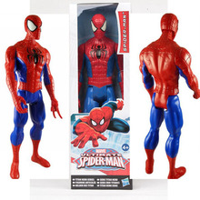 New! 1pc 12inch Marvel toys The Avengers figures Spider man Action Figures PVC toys for boys