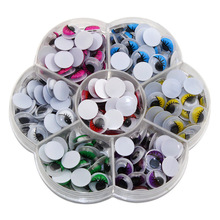 CCINEE 10mm Toy Eyes 240PCs Multicolor With Eyelash Eye Activities Moving Eyeball Plastic Eye Scrapbook For Doll Toy Accessories(China)