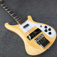 Best Selling Top quality Rick 4003 model Ricken 4 strings Electric Bass guitar in Natural color, Real photo show, Wholesale