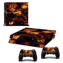 New Arrive Dragon Ball Vegeta Decal Skin Sticker For  Sony PS4 PlayStation 4 and 2 Controllers Skins Cover