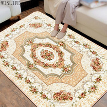 WINLIFE European style Living Room Big Area Decoration Carpet Bedroom Soft House Rugs Door Mat Coffee Table Carpets