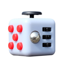 Fidget Cube Vinyl Desk Toy Keychain Squeeze Fun Stress Reliever 3.3cm 11 Colour Click Glide Flip Spin Breathe Roll With Box
