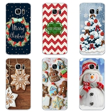 For Samsung Galaxy J3 J5 J7 2016 Phone Case S4 S6 S7 Edge Plus Shell C5 C7 Transparent Cover Soft Silicon Christmas Day Pattern