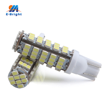 6/20pcs White T10 1206 68 SMD LED Bulbs W5W 194 927 161 Socket Type Leds Cars Pathway Lighting Reading License Plate Lights 12V(China)