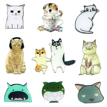 Creative Cartoon animal cat figure Acrylic magnetic stickers Fridge Magnets Refrigerator Sticker Home Decor wholesale(China)