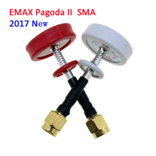 2PCS EMAX Pagoda II 2 5.8G 50mm 80mm Antenna Red RHCP White LHCP RC FPV Transmitter Receiver Omni Directional Flat Panel(China)