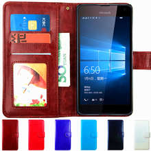 Case Leather Flip Cove For Microsoft Lumia 540 640 XL 950 650 550 635 Nokia 630 Case Phone Dual Sim Back Cover Wallet Luxury LTE