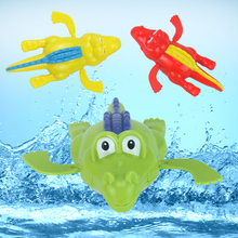Baby Kids toys Bath Swimming animal toy fun shower Crocodile Wind Up Clockwork Play Baby Pool & Accessories for children