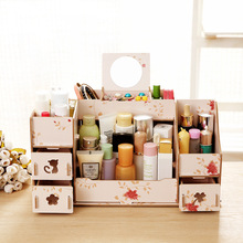 Manufacturers seek show Seoul new large 28 desktop wooden storage box cat DIY cosmetic storage box.(China)
