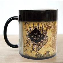 Free shipping!1Pcs Light Magic Marauders Map Magic Hot Cold Heat Temperature Sensitive Color-Changing  Coffee Tea Milk Mug Cup