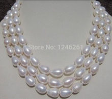 100% Real 8-9MM White AAA+ South Sea Baroque Pearl Necklace Rope Chain Beads Jewelry Making Natural Stone 60inch(Minimum Order1)