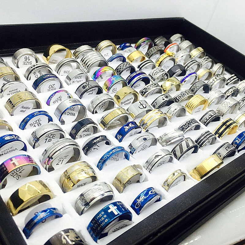 Unisex Set Of Stainless Steel Rings [ 100 piece lot ] 4