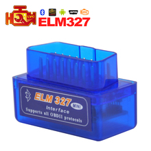 Mini ELM327  V2.1 Bluetooth OBD2 Code Reader super Mini ELM 327 For Scanner Auto Car automotive Diagnostic tool for Android/ PC