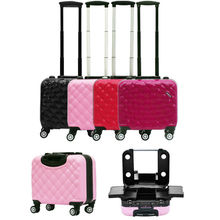 2017 New Travel Makeup Case with Lights Lighted Beauty Box bag trolley 4 colors