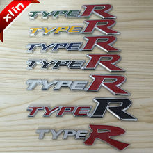 Hot sale 3D ABS Chrome Type R TYPER Letter logo Car Sticker Emblem Badge rear trunk Decals Auto accessories