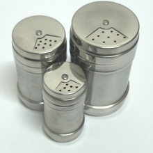 Free Shipping Set of 3 Stainless Steel Multi-Purpose flavor Pot Kitchen Gadgets Spice Bottles rotating seasoning cans (00310)(China)