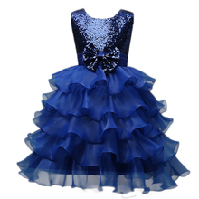Latest Rosette Girl Dress Birthday Dress for Baby Girl Party Kids Flower Girl Dress Pageant Ball Gown Wedding Children Clothing