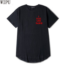 WIPU 2017 Kanye West The I Life Of Pablo Kanye T shirt Men Summer Brand Clothing T-Shirt I Feel like Paul Kanye Tee Shirt Homme