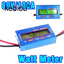 Digital 60V/100A Balance Voltage RC Battery Power Analyzer Watt Meter Wattage Tester Amps Servo Test Program 0.01 Accuracy(China)