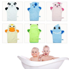 Children's Glove For Baby Bath Cute Animal Shape Cotton Bath Brush Baby Cartoon Bath Gloves Of Children Accessories 6 Sytles(China)