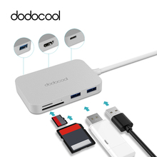 dodocool usb hub 7-in-1 usb c hub with 4k video HD SD/TF card reader type-c hub usb 3.0 hub for MacBook usb splitter