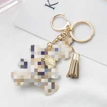 KISSWIFE 2017 New fashion! (eiffel tower) 패턴 곰 PU Leather 술 링 Keyring 보석 키 Chain 핸드백 Charm(China)