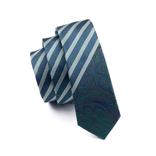 2017 Fashion Slim Tie deep green white Diagonal stripe Skinny Narrow Gravata Silk Ties For Men Wedding Party Groom HH-218(China)
