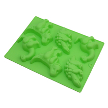 Silicone Cake Mold 6 Holes Dinosaur 3D Form Silicone Sugar Fondant Jelly Pudding Moulds Kitchen Pastry Cake Decorating Tools(China)