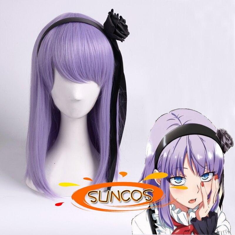 suncos Dagashi Kashi  Hotaru Shidare purple anime hair cosplay wig 35CM 14 Heat resistance fibre +Cap phair accessory<br><br>Aliexpress