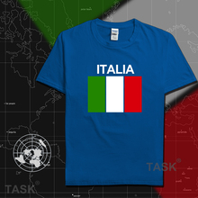 Italy Italia t shirt man socceres jerseys t-shirts nation team 100% cotton meeting fans short streetwear fitness Italian flag IT(China)