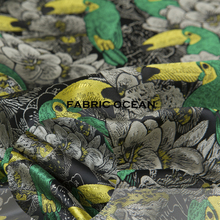 Jacquard couture fashion fabric, animal pattern, floral, sculpture, sew for top,shirt,coat,jacket,pants,dress,craft by the yard
