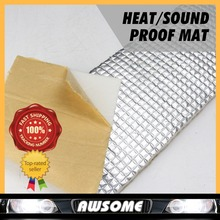 Auto Car 6mm Aluminium Muffler Deadening Fire Retardant PADProof Shield Mat Heat Insulation Sound Control Proofing FOIL 8pieces(China)