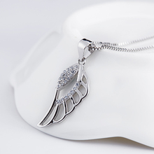 SoonHave Animals Charms Angel Wings 925 Sterling Silver Zircon Fashion Jewelry Women Pendants Trendy Accessories 10*27mm charmes(China)