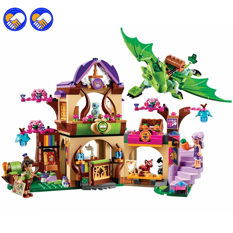 A toy A dream Bela 10504 694Pcs Friend Elves The Secret Market Place Model Building Kit Blocks Brick Girl Toy Gift 41176<br>