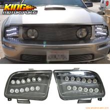 For 05-09 Ford Mustang Black Housing High Power LED Projector Headlights USA Domestic Free Shipping Hot Selling