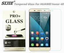 SIJIE Tempered Glass For HUAWEI honor 4X Screen Protect protective front stronger 9H discount with Retail Package 5.5 inch