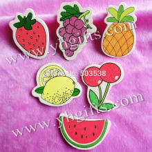 50PCS/LOT.Mix 6 design fruit wood stickers,Wall stickers,Decorative stickers,Home decor,Wall decals.Cheap.Small wholesale.Stock(China)